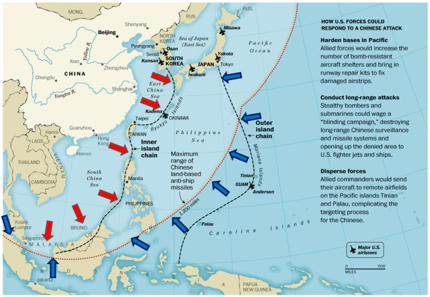 출처=globalita.com via CIMSEC http://globalbalita.com/wp-content/uploads/2012/10/Air-Sea-Battle-map.jpg http://cimsec.org/strategic-architectures